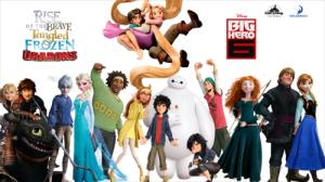 Tangled, Frozen and Big Hero 6