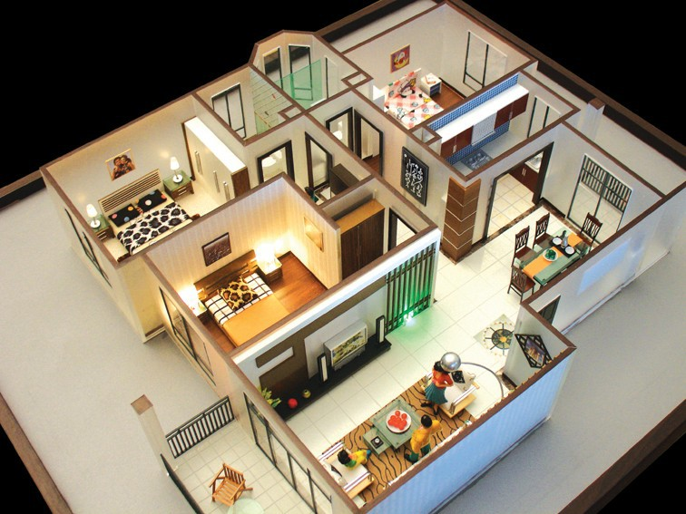 The simple architectural model that wins customers for Architecture house models